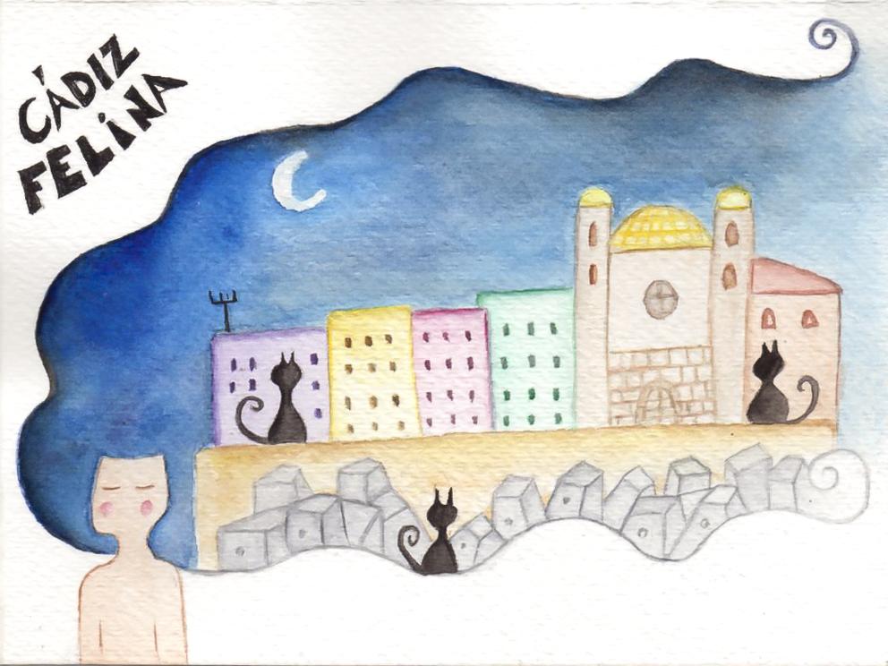 ilustración gatos Te cuento de viajes