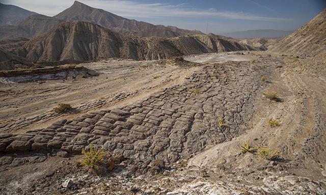 senderismo en el desierto de Tabernas