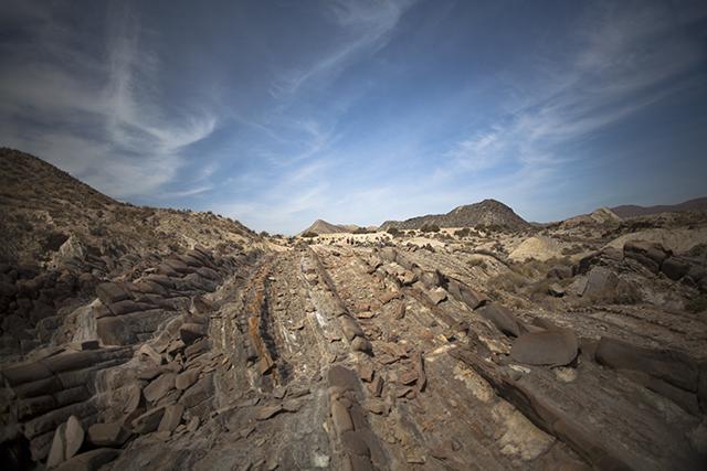 formaciones rocosas curiosas desierto de Tabernas
