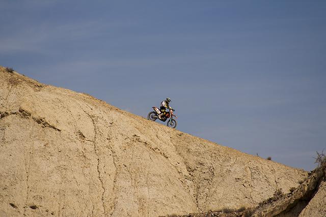 motocross en el desierto de Tabernas Almería