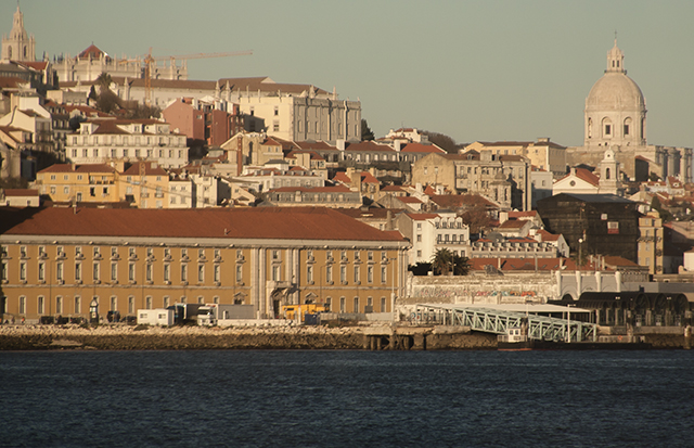 vistas de Lisboa desde el tajo