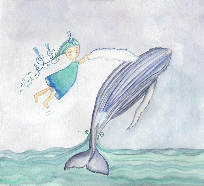 Ilustración ballena te cuento de viajes