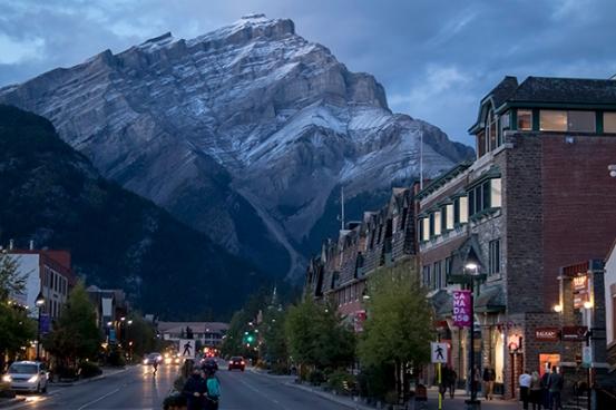 Atardecer en Banff