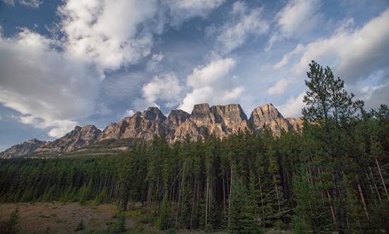 Castle Mountain, rockies