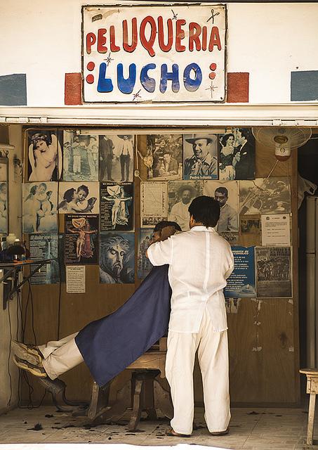 Viajes y vida cotidiana, una peluquería en México