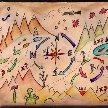Ilustración tesoro Forrest Fenn Te cuento de viajes CVT