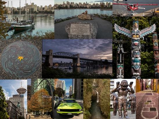 collage fotos Vancouver, Canada