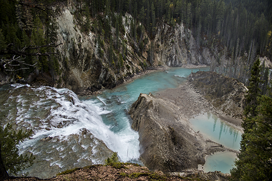 Wapta Falls, cascadas Wapta en el Parque Nacional de Yoho (Canadá)