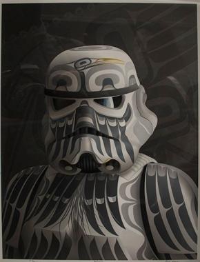 Darth Vader galería de arte Vancouver