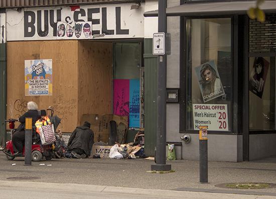 homeless en Vancouver, Canadá