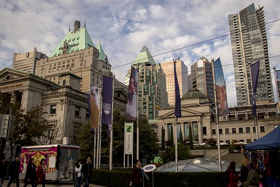 Una calle de Vancouver city