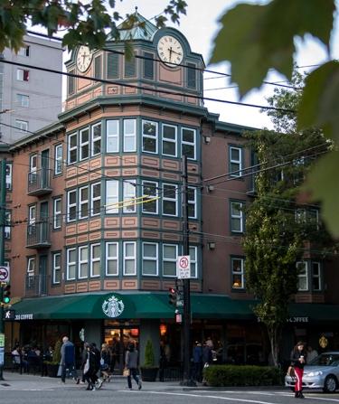 Starbucks Cafe Vancouver Canadá