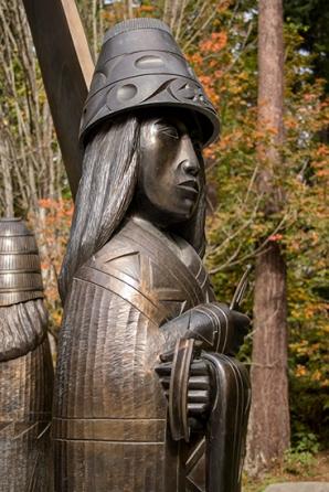 escultura de bronce en Stanley Park Vancouver