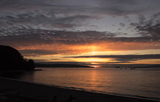 sunset in English bay, Vancouver, Canada