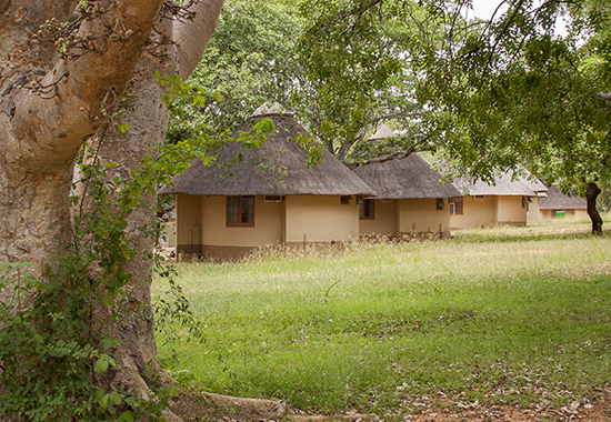 Bungalows Skukuza camp Kruger Sudafrica