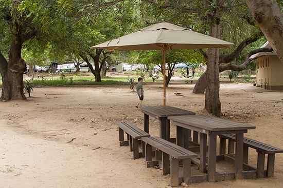 Área de picnic SKukuza camp Kruger N.P