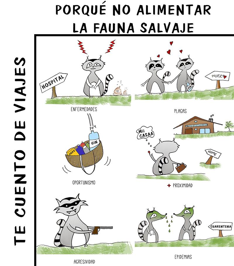 ilustración turismo responsable con fauna