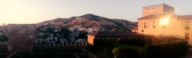 Atardecer desde la Alhambra de Granada