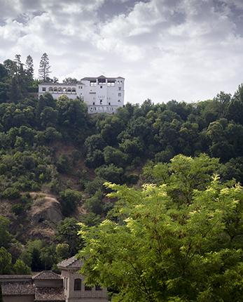 Vistas del Generalife desde el barrio del Albaicín