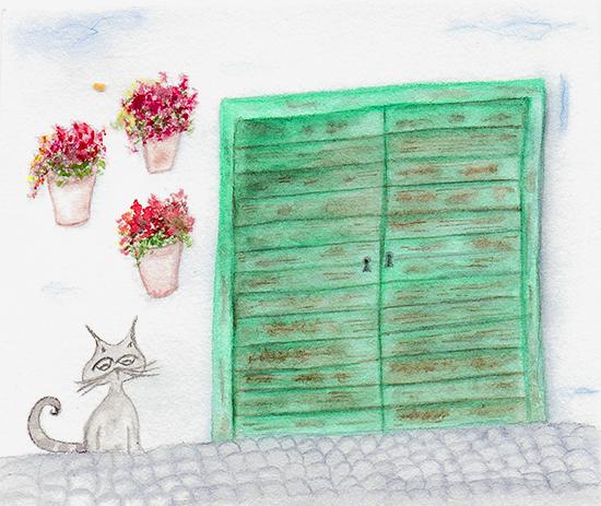 Ilustración Paseando por el barrio del Albaicín en Granada