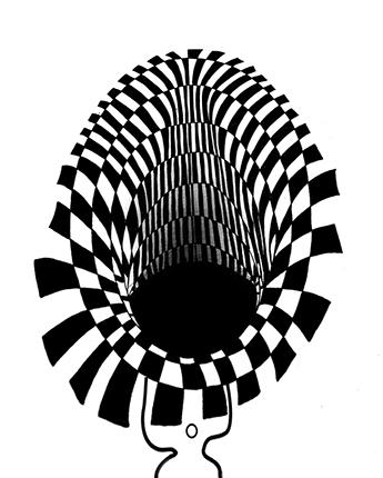 Ilustración agujero negro
