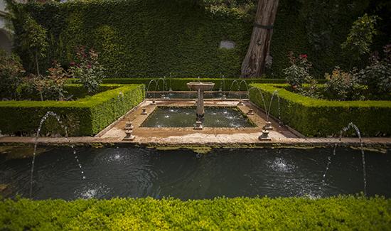 fuentes jardines del Generalife
