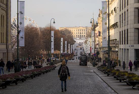 Karl Johangate Oslo en fin de año