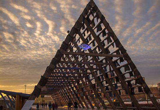 Estructura portátil en Oslo Sami Rintala