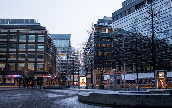 anochecer en Oslo