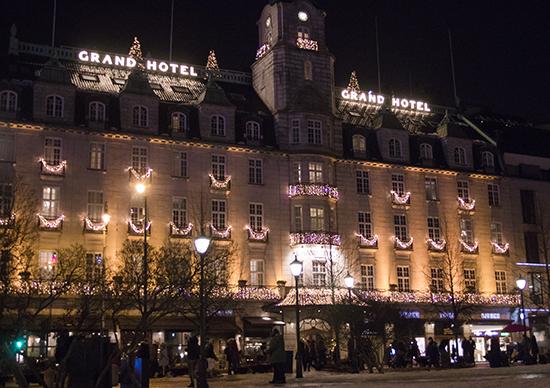 Grand hotel Oslo en Navidad