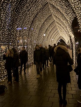 luces navideñas en Oslo