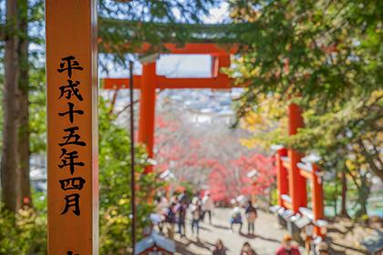 escaleras pagoda Chureito Fuji