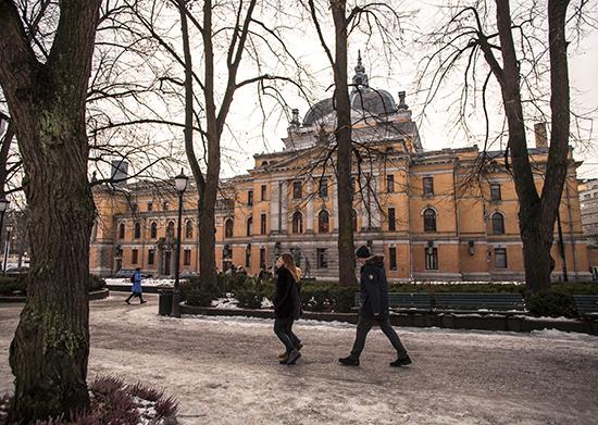 calles heladas en Oslo