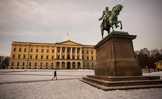 Palacio Real nevado en Oslo
