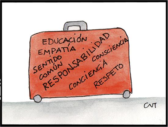 ilustración maleta de viajes turismo responsable