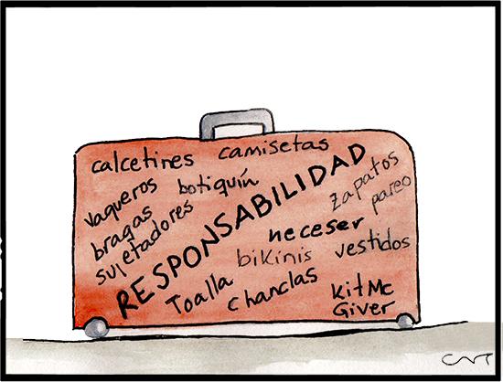 ilustración maleta viajes