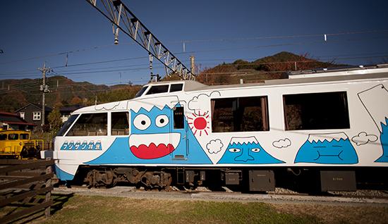 decoración de trenes en Japón