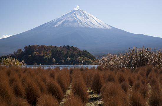 vistas Fuji desde Kawaguchiko lake