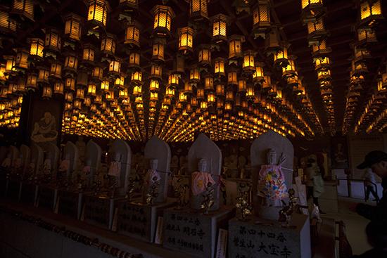 cueva sala Daisho in temple Miyajima Japon