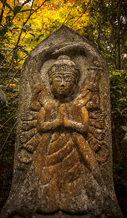 esculturas en Daisho in temple Japon