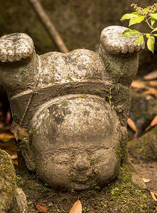 Jizos in Japan Daishoin temple Miyajima Island