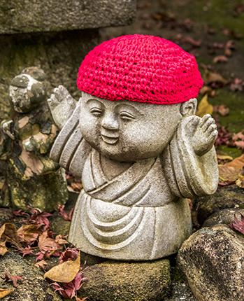 Jizos en Daisho in Temple Miyajima Japon
