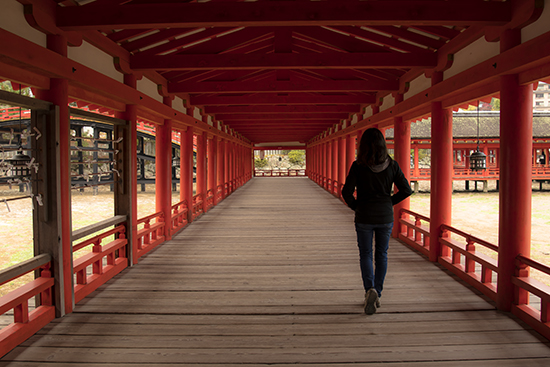 Pasillos santuario flotante Miyajima itsukushima Japan