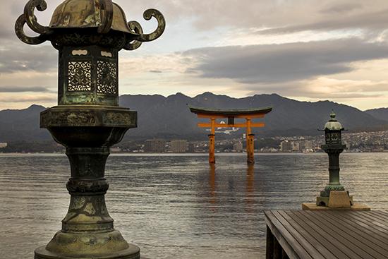 vistas de Hiroshima desde Miyajima
