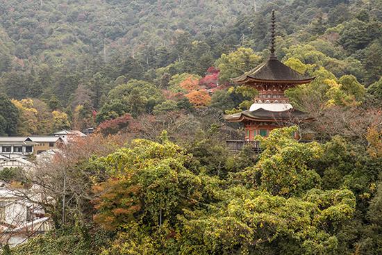 vistas Miyajima en noviembre