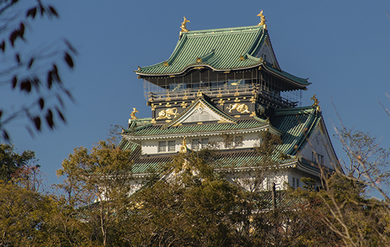 castillo de osaka en otoño