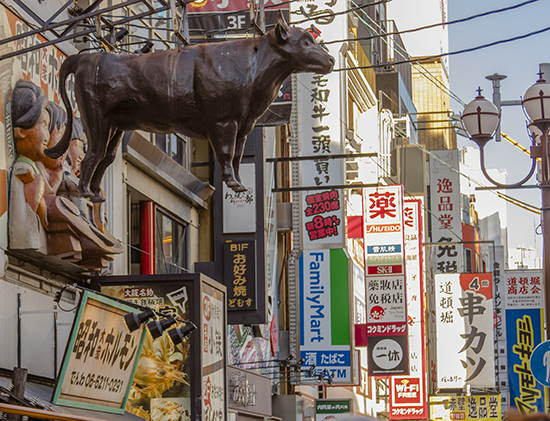barrio Shinsekai de día
