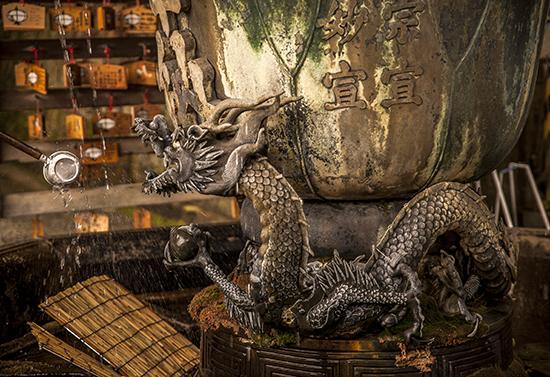 fuente dragón en Nara