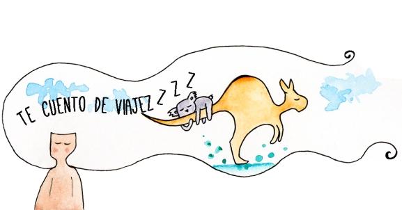 Dibujo acuarela australia
