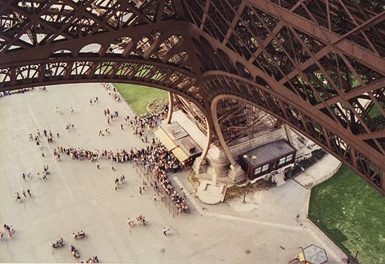 vistas desde la Torre Eiffel París Francia